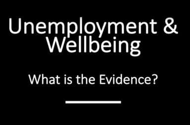 Unemployment and wellbeing: what is the evidence?